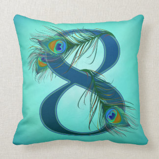 7 / 7th / number 7 / anniversary throw pillow