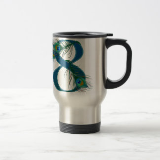 7 / 7th / number 7 / anniversary travel mug