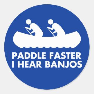 $7.95 Paddle Faster I Hear Banjos Sticker