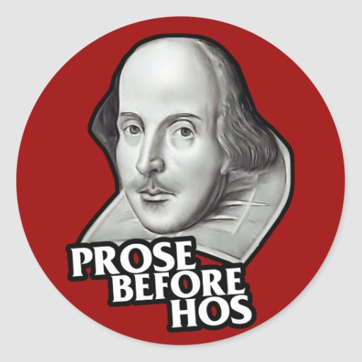 $7.95 Prose Before Hos Stickers (20 pack)