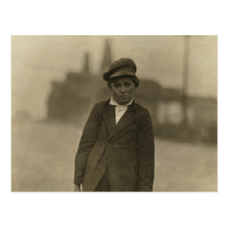 7 A.M. Boy (Bill) Carry Milk, by Lewis Hine Postcard