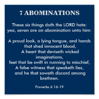 7 ABOMINATIONS POSTER