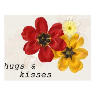 7 abrazos y besos postal
