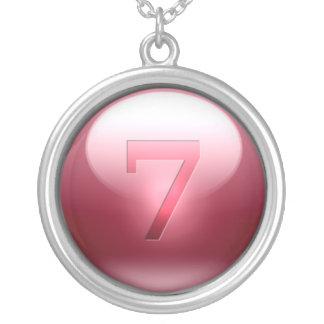 7 afortunados rojos colgante redondo