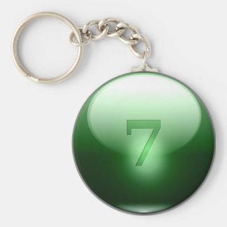 7 afortunados verdes llavero redondo tipo pin