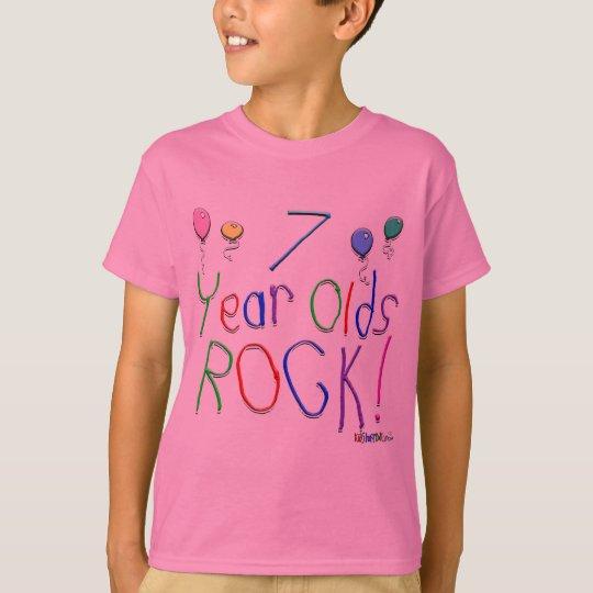 ¡7 años de la roca! playera