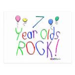 ¡7 años de la roca! postal