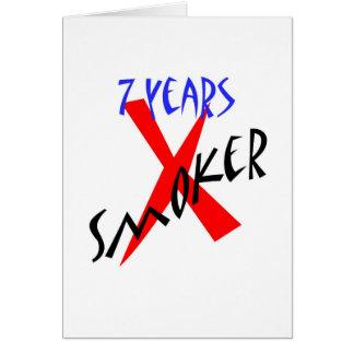 7 años de X-fumador del rojo Tarjeta De Felicitación