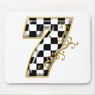 7 auto racing number mouse pad