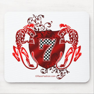 7 auto racing number tigers mouse pad