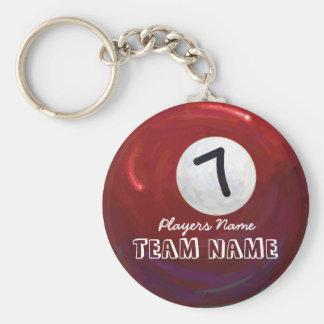 7 Ball Basic Round Button Keychain