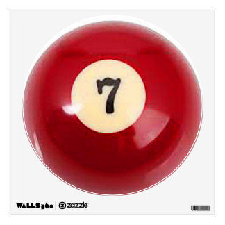 """7 Ball"" pool ball design gifts and products Wall Decal"