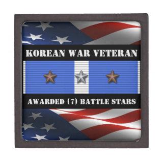 7 BATTLE STARS KOREAN WAR VETERAN JEWELRY BOX