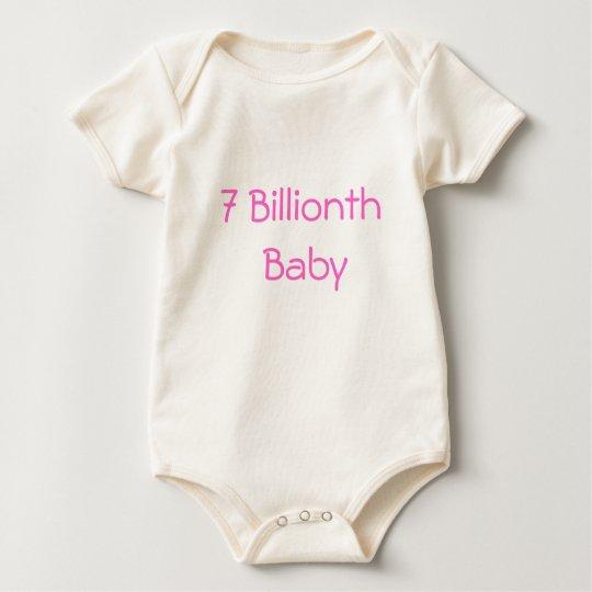 7 billionth baby baby bodysuit