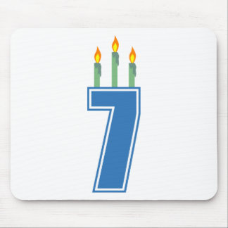 7 Birthday Candles (Blue / Green) Mouse Pad