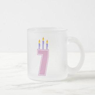 7 Birthday Candles (Pink / Purple) Coffee Mug
