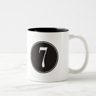#7 Black Circle Two-Tone Coffee Mug