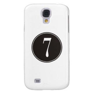 #7 Black Circle Samsung S4 Case