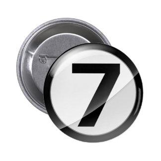 7 black pinback button