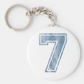 7 Bleu marbré Keychain