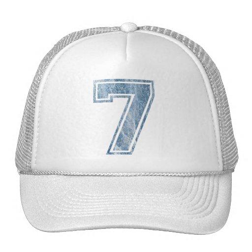 7 Bleu marbré Mesh Hat