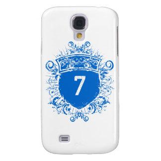 #7 Blue Shield Galaxy S4 Case