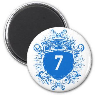 #7 Blue Shield Magnet