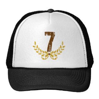 #7 Brown & Gold Wreath Trucker Hat