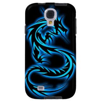 7 caja azul de la galaxia S4 de Samsung del dragón Funda Para Galaxy S4