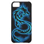 7 caja azul del iPhone 5 del dragón de la serie de Funda Para iPhone 5C