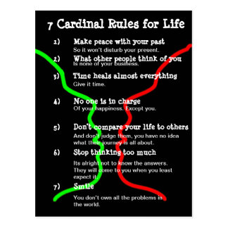 7 Cardinal Rules for LIFE Postcard