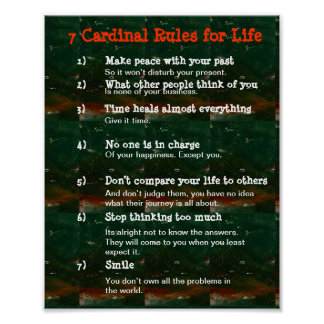 7 Cardinal Rules for LIFE Posters