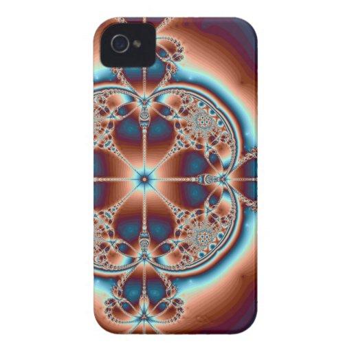 7 caso psicodélico del iPhone 4 del ~ de los coraz iPhone 4 Case-Mate Protector