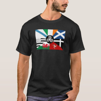 7 Celtic Nations Combined Flag T-Shirt