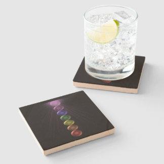 7 Chakra Square Drinks Coaters Stone Coaster