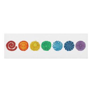 7 Chakras #1 Healing Artwork Panel Wall Art
