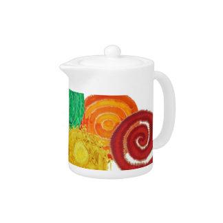 7 Chakras #1 Healing Artwork Teapot