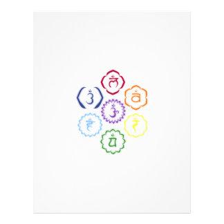7 Chakras en un círculo Tarjeta Publicitaria