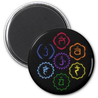 7 Chakras en un círculo Imán Para Frigorifico