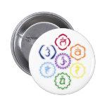 7 Chakras en un círculo Pin