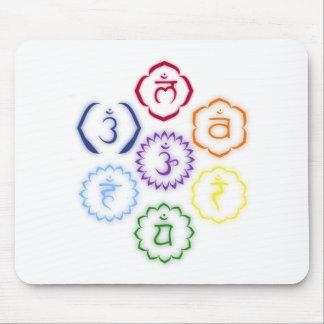 7 Chakras en un círculo Tapete De Raton