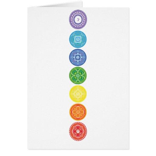 7 Chakras Greeting Card