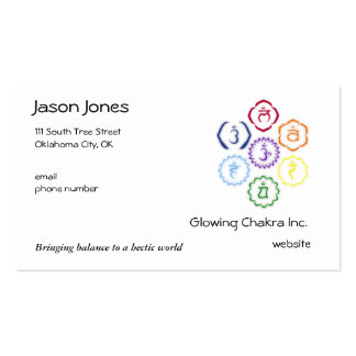 7 Chakras in a Circle Business Card Template