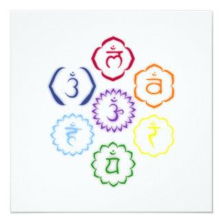 7 Chakras in a Circle Card
