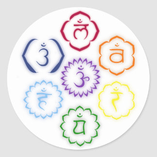 7 Chakras in a Circle Classic Round Sticker