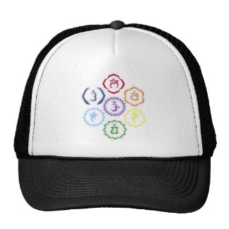 7 Chakras in a Circle Hat