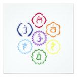 7 Chakras in a Circle Personalized Invitation