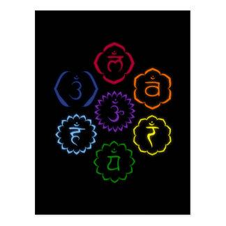 7 Chakras in a Circle Postcard