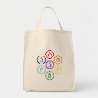 7 Chakras in a Circle Tote Bag