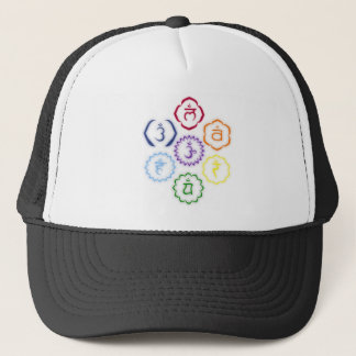 7 Chakras in a Circle Trucker Hat